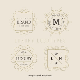 Lineal luxury logotypes