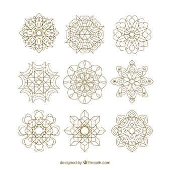 Lineal mandala background