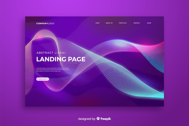 Lineal shapes landing page template