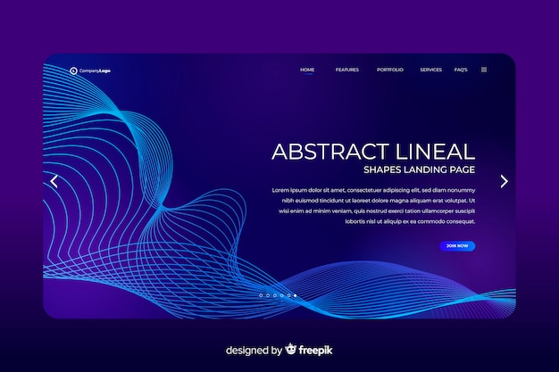 Lineal shapes landing page