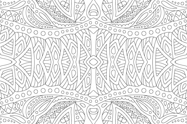 Линейное абстрактное искусство для взрослых книжка-раскраска