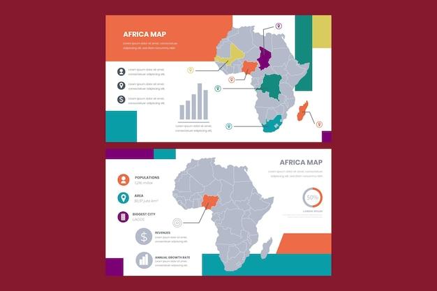 선형 아프리카지도 infographic