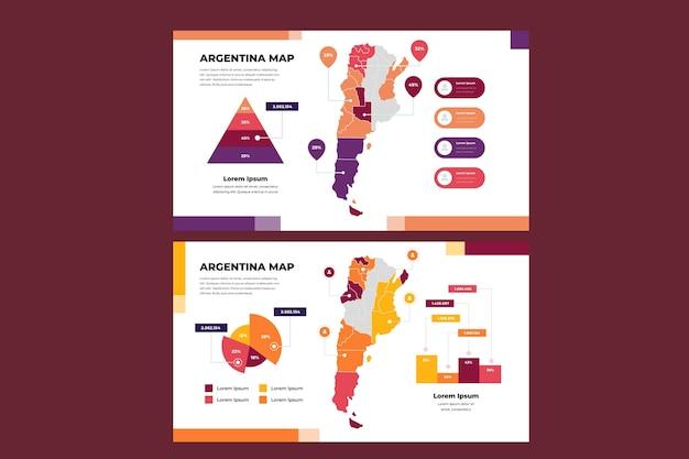 Линейная карта аргентины инфографики