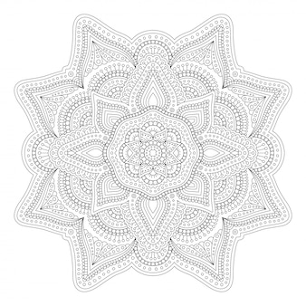 Linear art for adult coloring book page