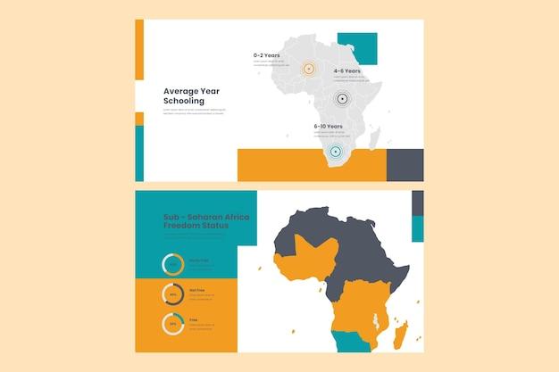 線形アジア地図インフォグラフィック