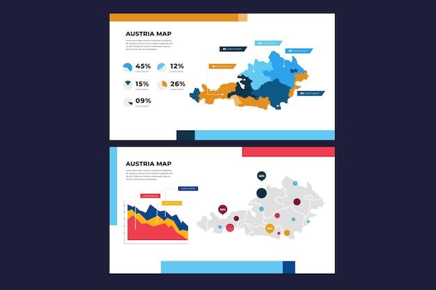 Линейная карта австрии инфографики