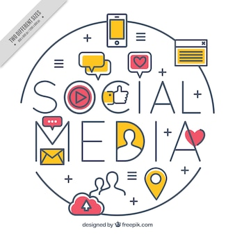 Linear background with color details for social media