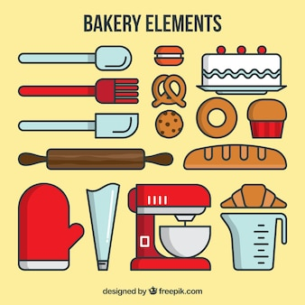 Linear bakery elements