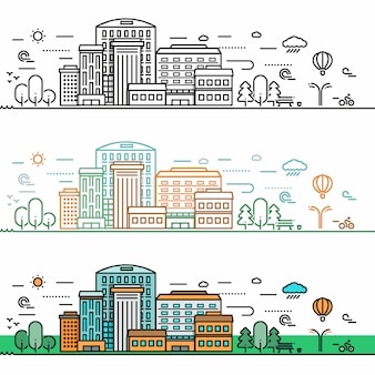 선형 도시 개념