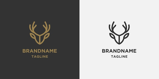 Линейный олень логотип