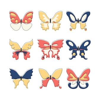 선형 평면 나비 개요 팩