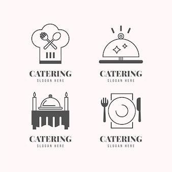 Линейные плоские логотипы общественного питания