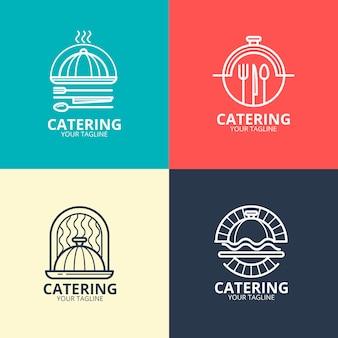 Linear flat catering logos