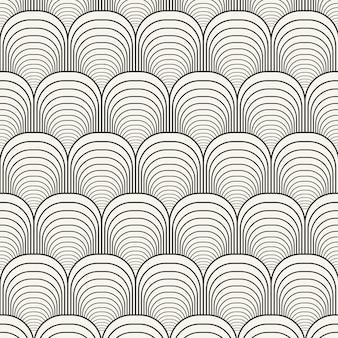 선형 평면 디자인 추상 라인 패턴