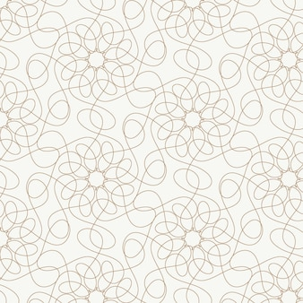 Linear flat design abstract lines pattern
