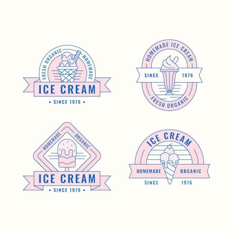 Linear flat ice cream label pack