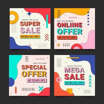 Коллекция сообщений о продаже линейных плоских instagram
