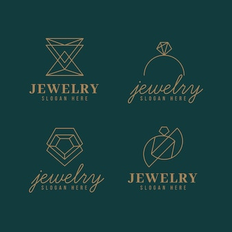 Linear flat jewelry logo collection