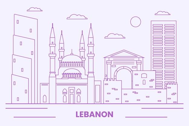 선형 평면 레바논 스카이 라인