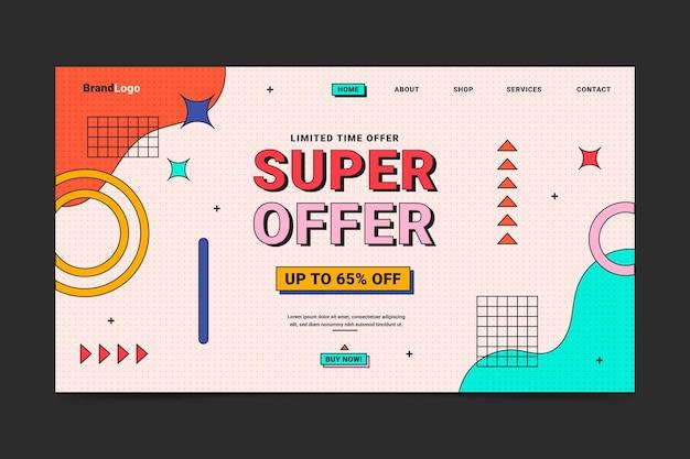 Linear flat sale landing page template