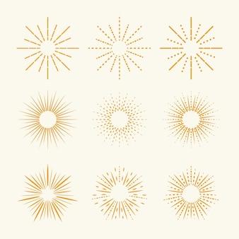 Linear flat sunburst collection