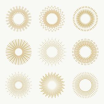 Collezione lineare flat sunburst