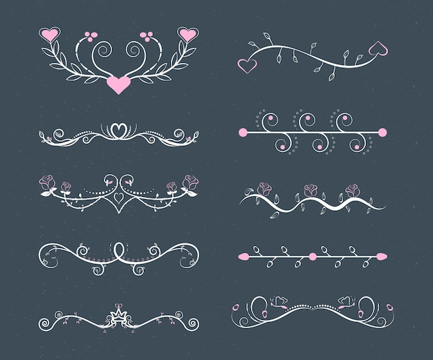 線形フラット結婚式の装飾品セット