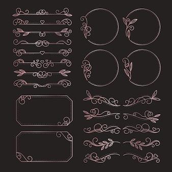 線形フラット結婚式の装飾品