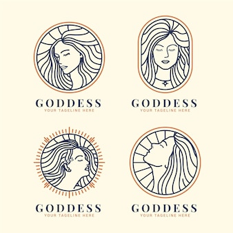 Linear goddess logo templates