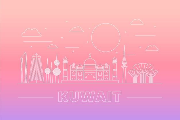 線形クウェートのスカイライン