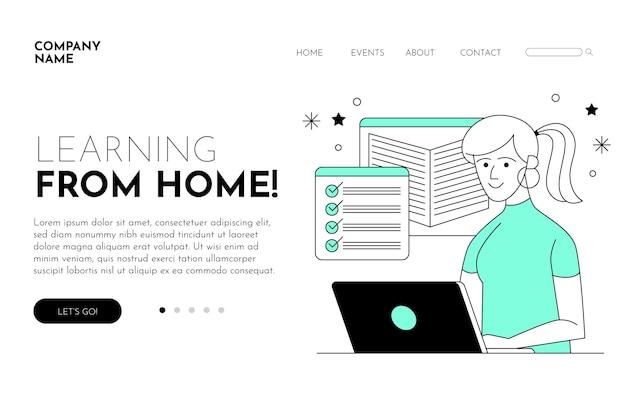 Шаблон целевой страницы линейного онлайн-обучения