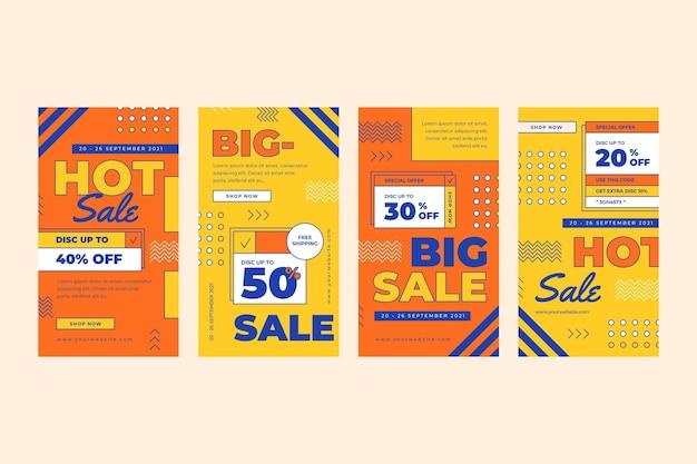 Set di storie instagram di vendita lineare