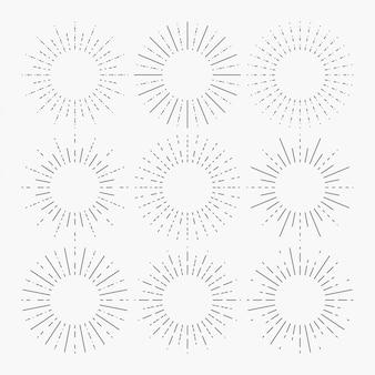 Linear sunburst vector