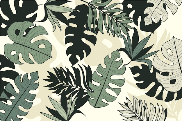 Linear tropical leaves style