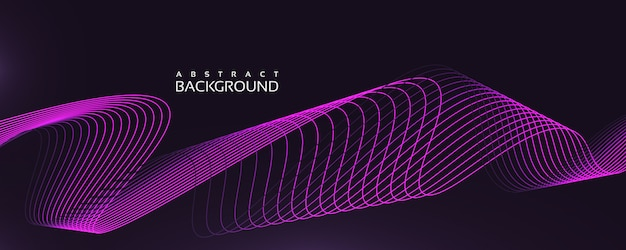 Linear wavy background with purple color and unique style
