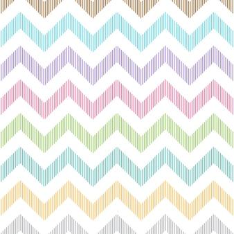 Linear zigzag pattern pastel color
