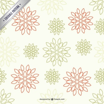 Lineart floral pattern
