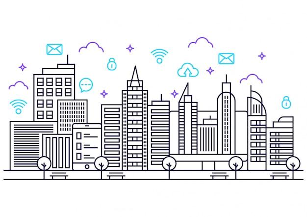 Lineart умный город