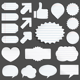 Lined paper objects