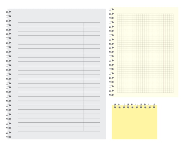 Lined simple blank note pat template illustration of clear notebook