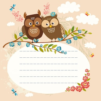 Lined space for text owls