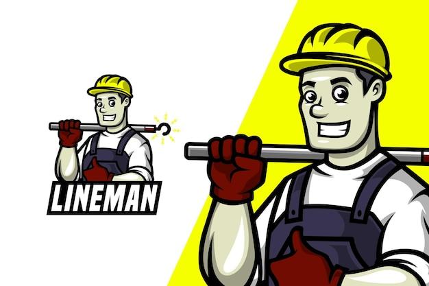 Lineman-マスコットロゴテンプレート