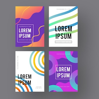 Lines and circles gradient shapes cover