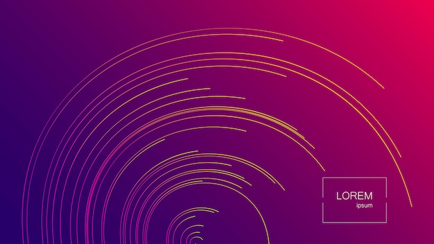 Lines composed abstract vector background