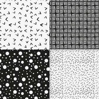 Lines and dots minimal geometric pattern template
