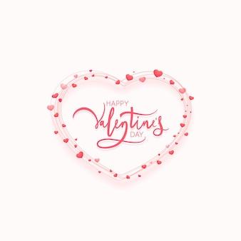발렌타인 데이 디자인을위한 모양의 라인 하트