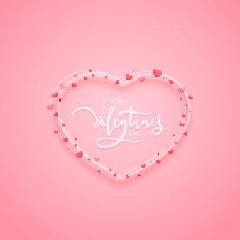 バレンタインデーのデザインのためにハート型のライン。