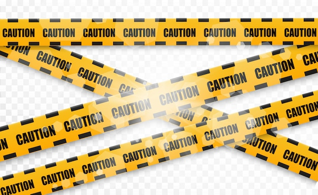 Lines isolated. warning tapes. caution. danger signs. vector illustration.yellow with black police line and danger tapes. vector illustration.