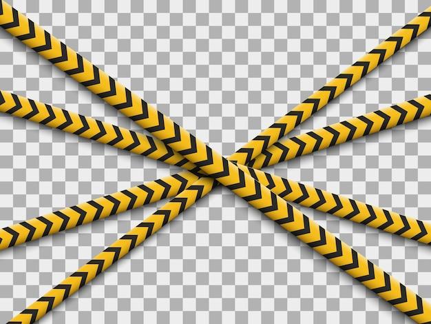 線が分離されました。警告テープ。注意。危険の兆候。