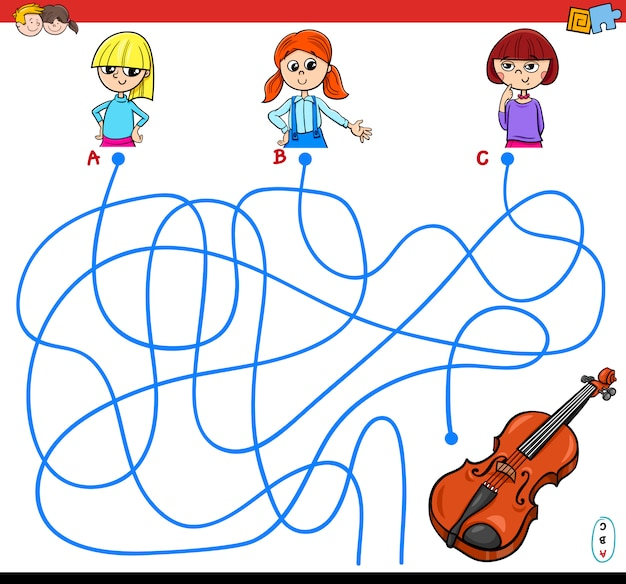 Lines or maze puzzle game for kids